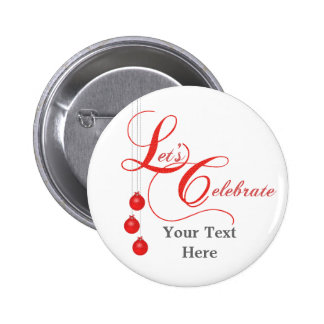 Christmas Party Red Lace 6 Cm Round Badge