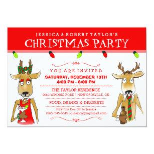 funny christmas party invitations zazzle uk