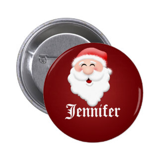 Christmas Party Santa Claus Name Tags 6 Cm Round Badge