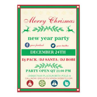 Christmas Party Template 13 Cm X 18 Cm Invitation Card