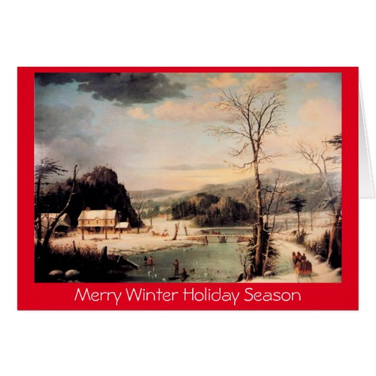 Christmas Party,traditional Xmas New Year greeting Card