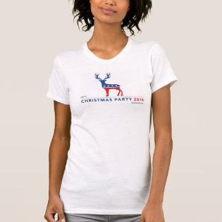 """Christmas Party"" women's American Apparel tee"