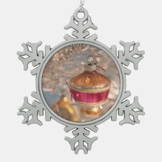 Christmas Past Pewter Snowflake Decoration