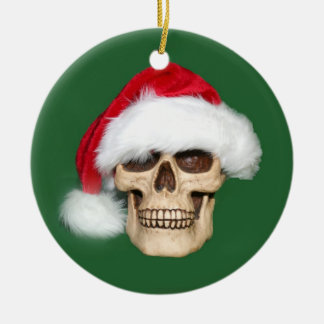 Christmas past round ceramic decoration