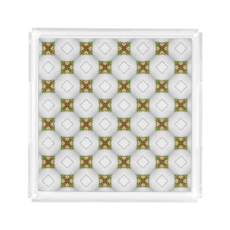 Christmas Pattern Acrylic Tray