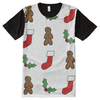 Christmas Pattern All-Over Print T-Shirt