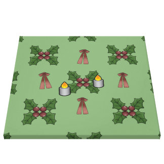 christmas pattern gallery wrapped canvas