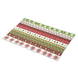 "Christmas Pattern Cloth Placemats 20"" x 14"""