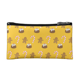 Christmas Pattern, Gingerbread Man, Candy, Pudding Makeup Bag