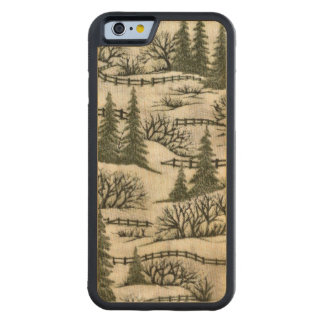 Christmas Pattern iPhone 6 wood case Carved® Maple iPhone 6 Bumper Case