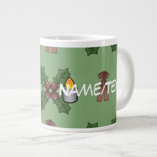 christmas pattern jumbo mug