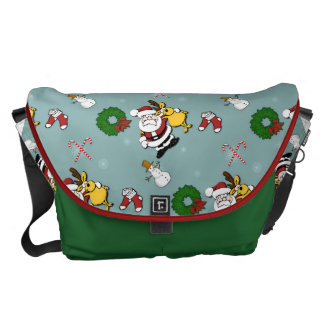 Christmas Pattern Commuter Bags