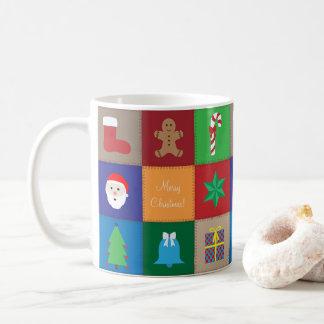 Christmas Pattern Mug - Colourful Background