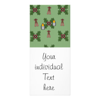 christmas pattern personalized rack card