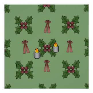christmas pattern poster