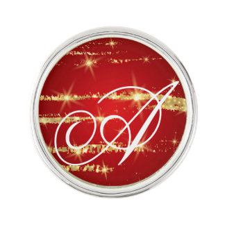 christmas pattern,red,gold,abstract,xmas,holidays, lapel pin