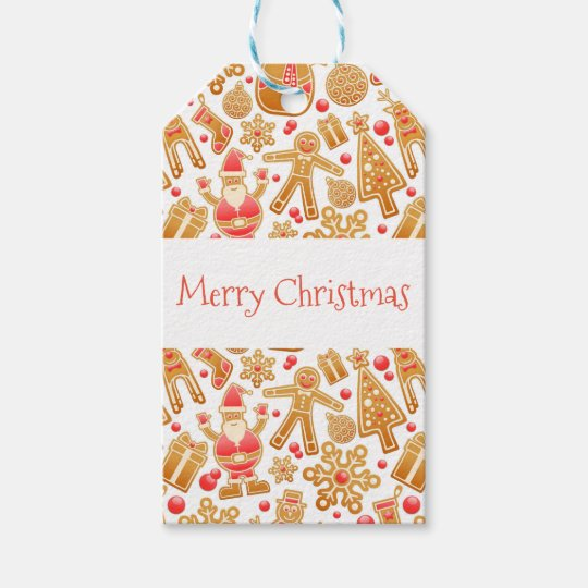 Christmas Pattern-Santa Claus Tree Rudolph Snowman Gift Tags