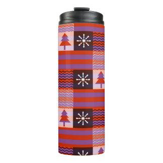 Christmas pattern thermal tumbler