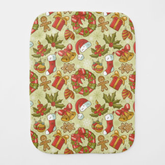 Christmas Pattern Vintage Style Burp Cloth