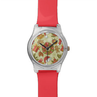 Christmas Pattern Vintage Style Watch