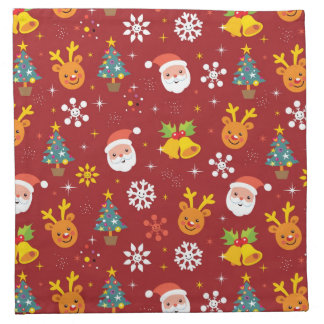 Christmas pattern with Santa and reindeer Napkin