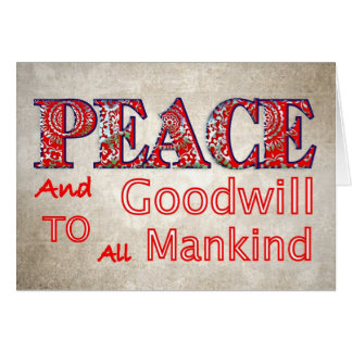 Christmas Peace  Goodwill Christmas Holiday Cards