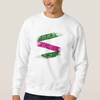 Christmas Peace, Love, Joy Snowflakes Sweatshirt