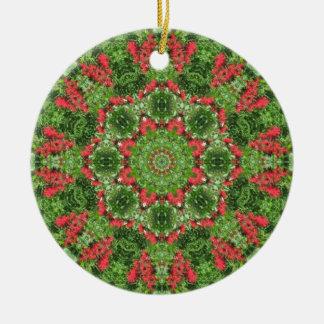 Christmas Peace Mandala Ornament