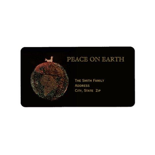 Christmas Peace on Earth Address Label