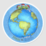 Christmas Peace on Earth Round Sticker