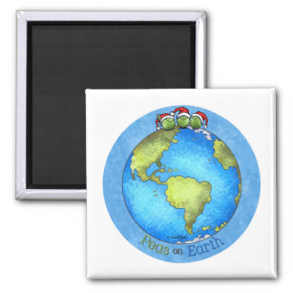 Christmas Peace on Earth Square Magnet