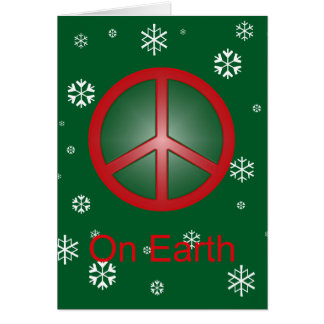 Christmas Peace Sign Card