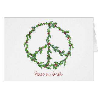 Christmas Peace Wreath, Peace on Earth Card