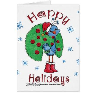 Christmas Peacock Greeting Card