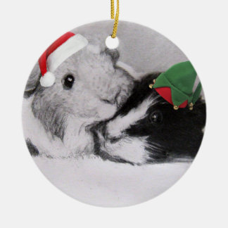 Christmas Peegs Guinea Pig Christmas Ornament
