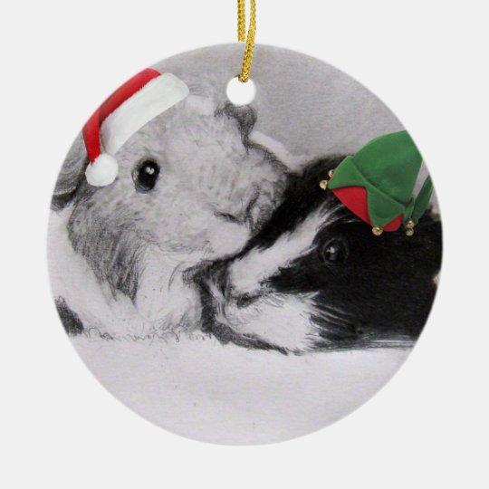 Christmas Peegs Guinea Pig Christmas Ornament