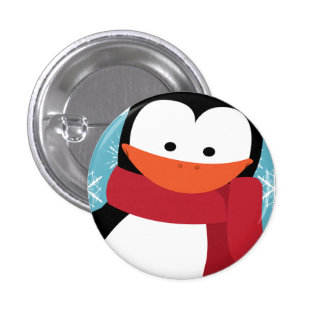 Christmas Penguin 3 Cm Round Badge