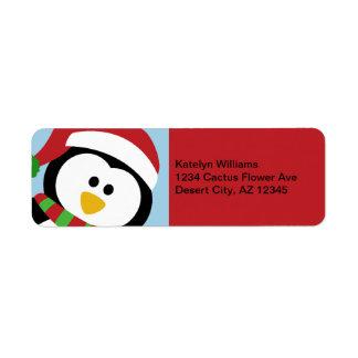 Christmas Penguin Address Labels