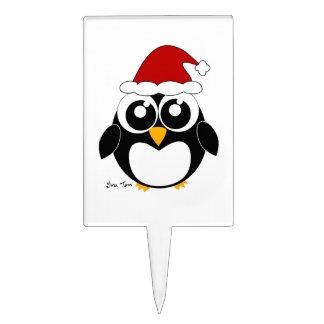 Christmas Penguin Cake Picks