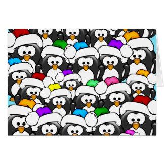 Christmas Penguin Family Card