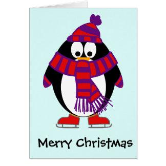 Christmas Penguin Greeting Card