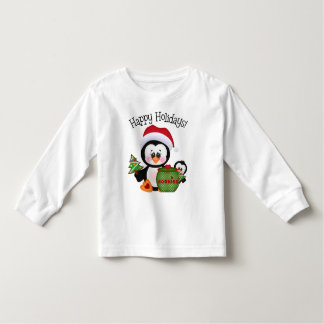 Christmas penguin Holiday toddler unisex t-shirt