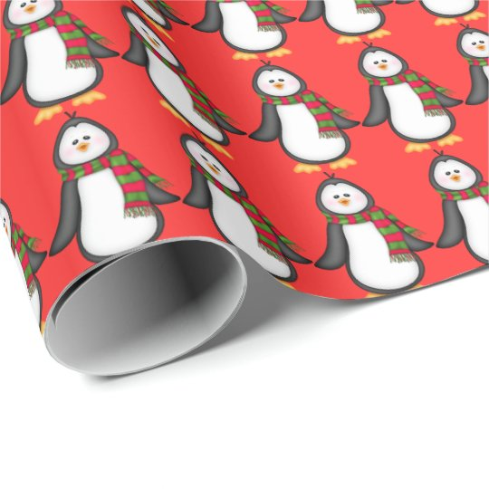 Christmas penguin Holiday wrapping paper