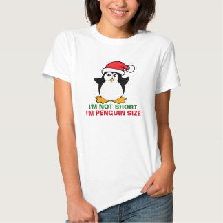 Christmas Penguin I'm Not Short I'm Penguin Size Tee Shirt