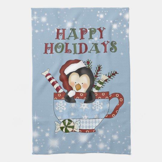 Christmas Penguin Kitchen towel