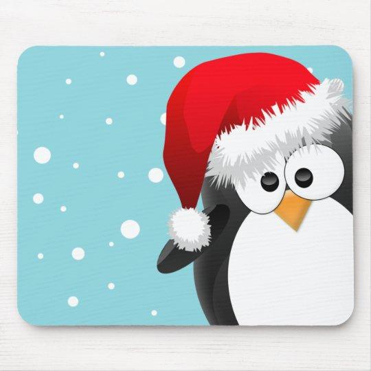 Christmas Penguin Mouse Mat