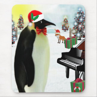 Christmas Penguin Mousepad