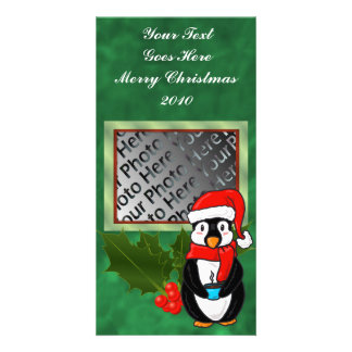 Christmas Penguin Photo Card