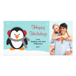 Christmas Penguin Photo Card 2010