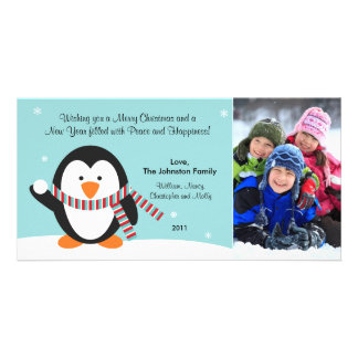 Christmas Penguin Photo Card 2011